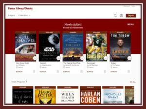 Screenshot of OverDrive homepage