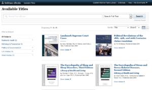 Infobase screen shot